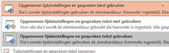 Powerpoint naar video - stap 3